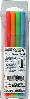 أوتشيدا، كلرن، 4 قطع، مجموعة أقلام تحديد برأس فرشاة، ألوان نيون