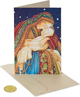 American Greetings Premium Christmas Cards Religious Boxed, Madonna and Child (14-Count)