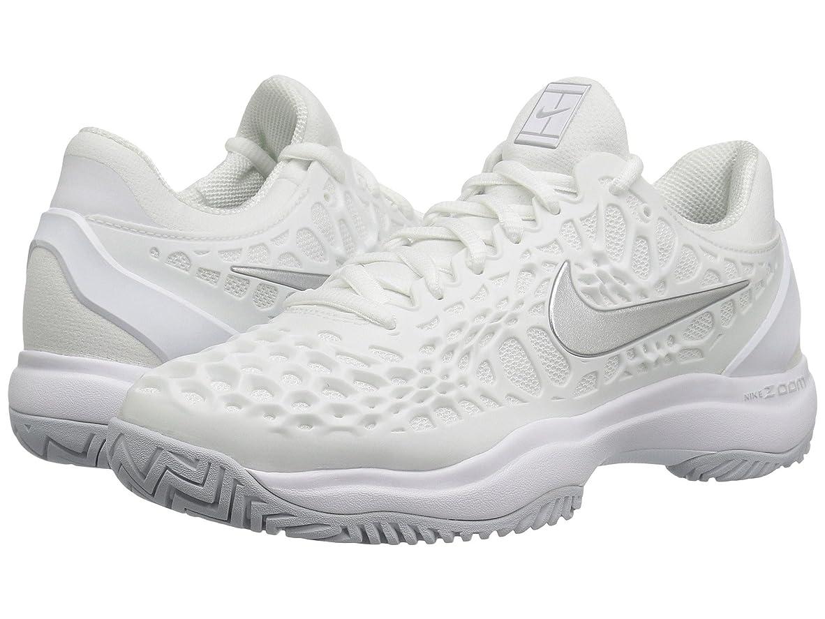 エジプト人ふつうバケツ(ナイキ) NIKE レディーステニスシューズ?スニーカー?靴 Zoom Cage 3 HC White/Metallic Silver/Pure Platinum 7.5 (24.5cm) B - Medium
