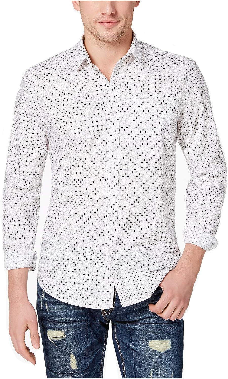 American Rag Mens Bright Black Button Down Shirt