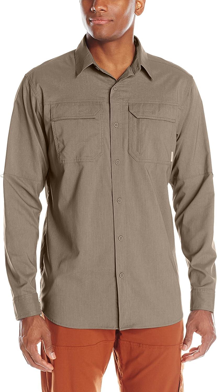 Columbia Sportswear Men's Royce Peak II Long Sleeve Shirt, Wet Sand, Small