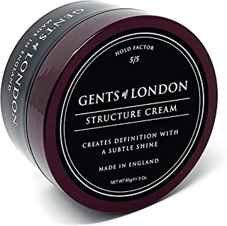 Gents of London Structure Cream Strong Hold Professional Hair Styling Wax (85g)