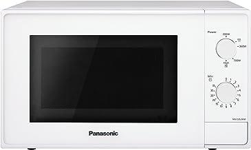 Panasonic NN-E20JWMEPG Microondas Compacto 20L (800 W, 2 Mandos giratorios, Plato giratorio de vidrio 255 mm, 5 Niveles de ajuste de potencia), Color Blanco