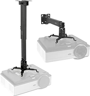 VIVO Black Universal Adjustable Wall Ceiling Projector Mount Bracket | Extendable Length Projection (MOUNT-VP06B)