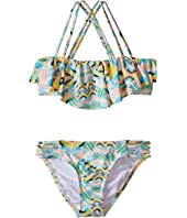 O'Neill Kids - Cabo Strappy Ruffle Top Bikini (Little Kids/Big Kids)