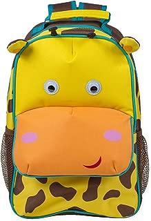 Brown Spot Giraffe Dimensional Animal Shape Water Resistant Preschool Backpack