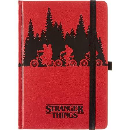 Carnet de notes A5 Premium - Stranger Things (Upside Down) rouge SR72778