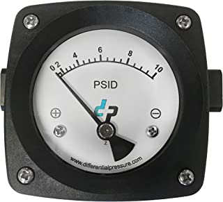 10 PSI Standard Differential Pressure Gauge for Filter Status and Pump Monitoring