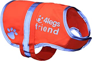 Dog Safety Reflective Vest 5 Sizes to fit dogs 10 lbs -130 lbs : High Visibility for Outdoor Activity Day and Night, Keep Your Dog Visible, Safe From Cars & Hunting Accidents | Blaze Orange vest