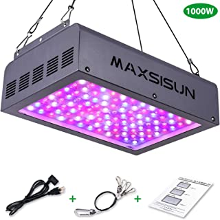MAXSISUN 1000W LED Grow Light, Full Spectrum IR for Indoor Horticulture Greenhouse Hydroponic Plants Veg and Bloom (100pcs Dual Chips 10W LEDs)