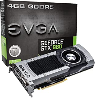 EVGA 04G-P4-2980-KR GeForce GTX 980 4GB GDDR5 - Tarjeta gráfica (GeForce GTX 980, 4 GB, GDDR5, 256 bit, 4096 x 2160 Pixeles, PCI Express 3.0)