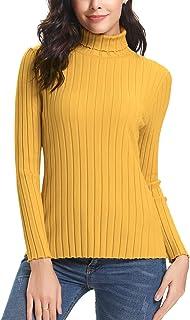 Aibrou Maglioni Dolcevita Basic Donna Invernali Eleganti a Manica Lunga Maglione Collo Alto Pullover Maglia Elegante Autun...