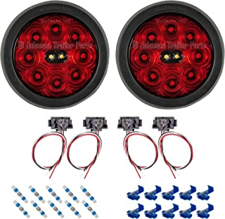 4 inch round led tail lights with reverse