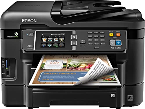discount Epson new arrival WorkForce 2021 WF-3640A Wireless Color All-in-One Inkjet Printer with Scanner and Copier online sale