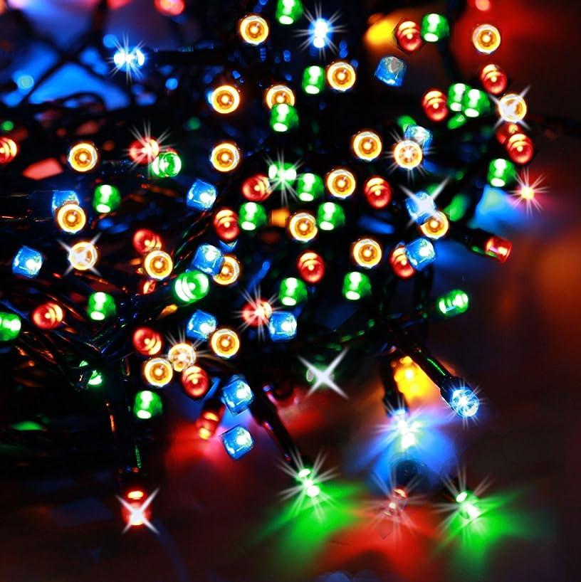 モールス信号午後クレアCOOMATEC LED200球 クリスマス用 ガーデンライト 光センサー内蔵