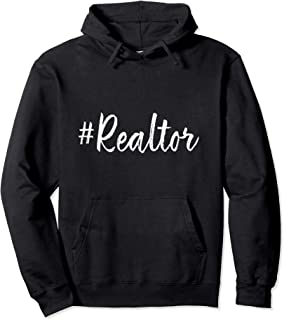 Hashtag Realtor Real Estate Agent Business Gifts Funny Quote Pullover Hoodie