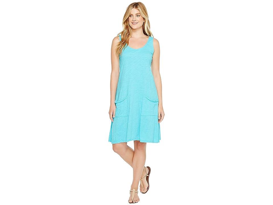Fresh Produce Drape Dress (Luna Turquoise) Women