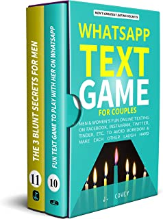 WhatsApp Text Game for Couples: Men & Women's Fun Online Texting on Facebook, Instagram, Twitter, Tinder, Etc. to Avoid Boredom & Make Each Other Laugh ... (The Real Alpha Male Dating Secrets Book 6)