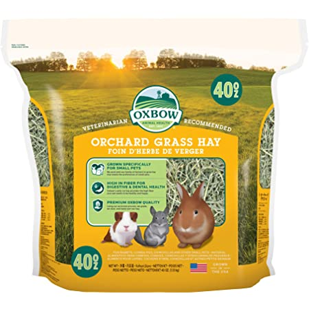 Oxbow Animal Health Orchard Grass Hay - All Natural Grass Hay for Chinchillas, Rabbits, Guinea Pigs, Hamsters & Gerbils