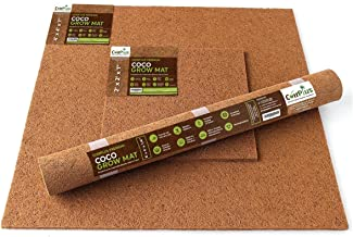 CoirPlus Premium Coco Grow Mat [OMRI Listed]: 8 ft x 4 ft x 1/4 in (2 pieces); 100% Natural & Organic for growing Microgreens, Wheatgrass, etc.