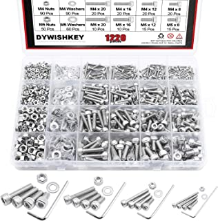 Washers and Hex Key Wrench Kit Nuts iExcell 1600 Pcs Stainless Steel 304 M3 Hex Socket Button Head Cap Screws