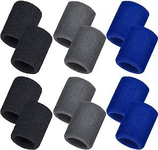 Bememo 12 Pack Sweatbands Sports Wristband Cotton Sweat...