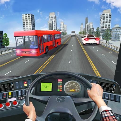 Bus Driving Sim 2019: Free Bus Simulator Driving Modren Bus Driver Passengers City Tour Pick & Drop Games