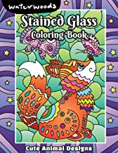 Stained Glass Coloring Book - Cute Animals Designs: A Lovely Coloring Book With 50 Beautiful Cute Animals Design For Relax...