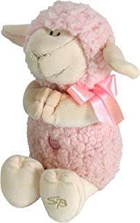 Stephan Baby Ultra Soft and Huggable Musical Praying Woolly Lamb, Pink
