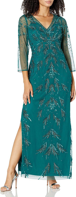 Super popular specialty store Rare Adrianna Papell Women's Mesh Dress Beaded