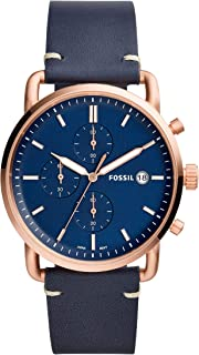 FOSSIL Men's FS5404 Year-Round Chronograph Quartz Blue Band Watch
