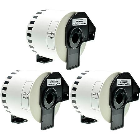 5x Compatibile Etiketten-Rollen per Brother P-Touch DK-22223 P-Touch Ql 500 Serie P-Touch Ql 550 P-Touch Ql 560 P-Touch Ql 560 Serie DK22223 Dk 22223 50mm x 30,48 M Ufficio Serie Pro