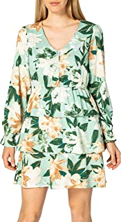 Only Onlalma Life Vis L/S Layer Dress AOP Wvn Vestido para Mujer