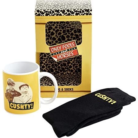 Only Fools and Horses Gifts - Official Cushty Only Fools and Horses Socks and Mug Set - Only Fools and Horses Mugs for Men - Cool Gifts for Men