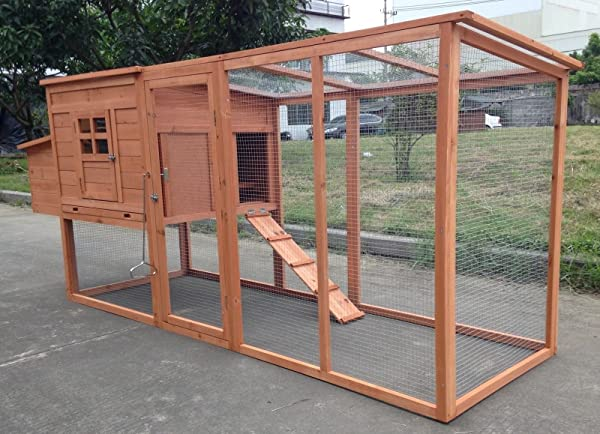 ChickenCoopOutlet Large 95 Deluxe Solid Wood Hen Chicken Cage House Coop Huge With Run Nesting Box