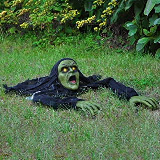 Best JOYIN Halloween Décor Groundbreaker Zombie with Sound and Flashing Eyes for Yard Decorations Review