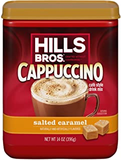 Hills Bros. Instant Cappuccino Mix, Salted Caramel Cappuccino Mix – Easy to Use and Convenient, Enjoy Coffeehouse Flavor f...