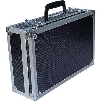ECI® Maletín de aluminio negro con dados de espuma vacío, maletín de aluminio, caja de herramientas, 400 x 250 x 115 mm: Amazon.es: Bricolaje y herramientas