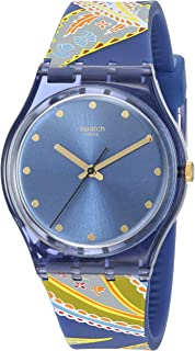 I Love Your Folk Quartz Silicone Strap, Blue, 16 Casual Watch (Model: GN263)