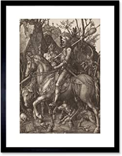 The Art Stop Painting Albrecht Durer Knight Death Devil Old Master Framed Print F12X2655