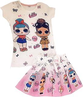 طقم فستان لول للبنات تنورة و تيشرت lol DRESS FOR GIRLS SHIRT AND SKIRT