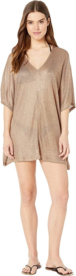 Luxe Cover Open Side V-Neck Tunic Cover-Up