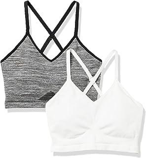Amazon Essentials Lot de 2 Soutien-Gorges de Sport sans Coutures Femme