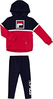 Fila Toddler Girls 2 Piece Hoodie Sweater and Jogger Sweatpant Set Baby Clothing