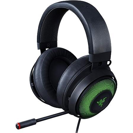 Razer Kraken Ultimate RGB USB Gaming Headset: THX 7.1 Spatial Surround Sound - Chroma RGB Lighting - Retractable Active Noise Cancelling Mic - Aluminum & Steel Frame - for PC - Classic Black