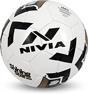 Nivia Shining Star-2022 Football, Size 5 (White)