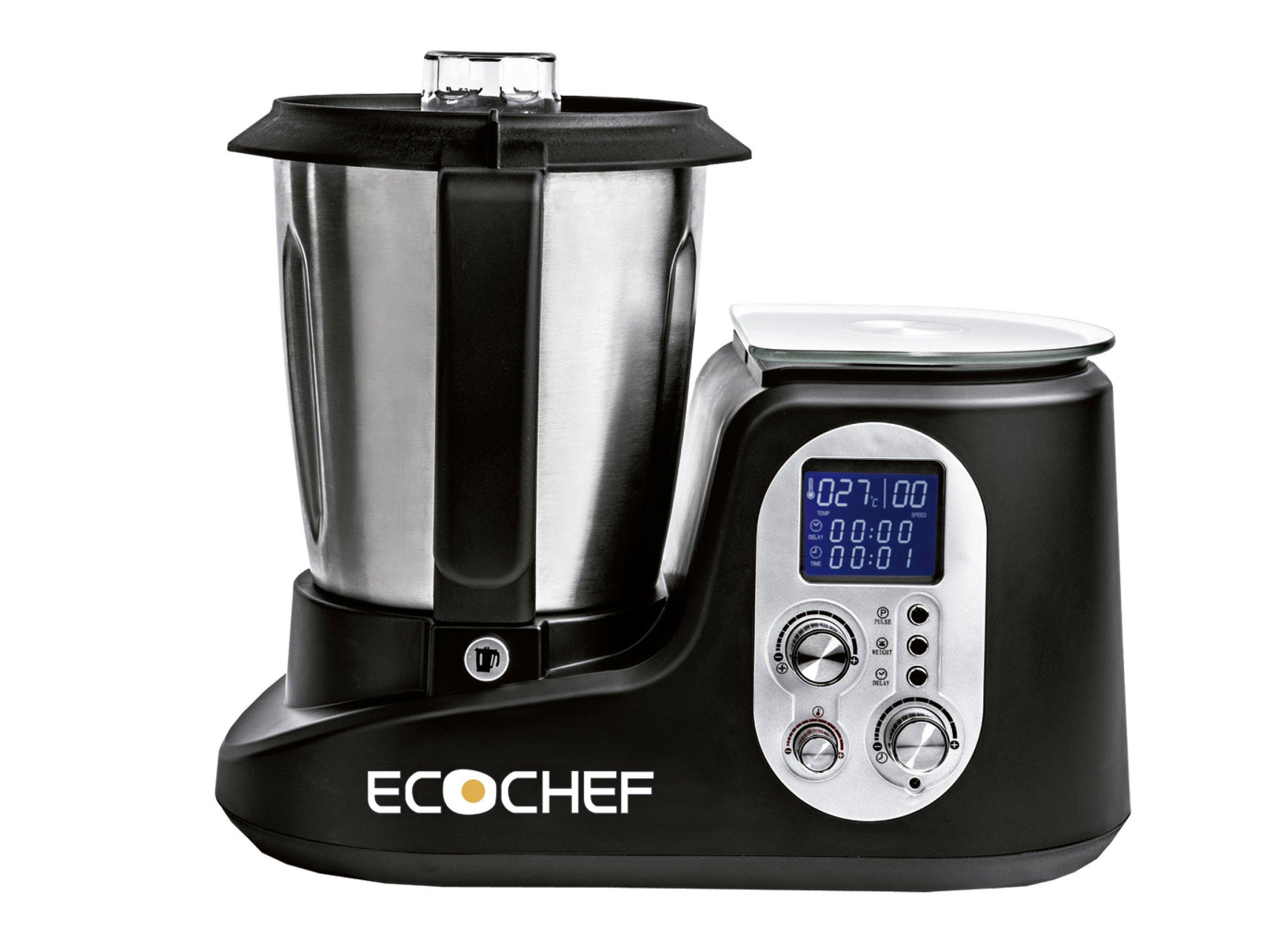 Erika Ecochef Mix Robot de cocina, 1000 W, Acero Inoxidable, Negro: Amazon.es: Hogar