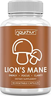 Lions Mane Mushroom Capsules - Immune Support System Booster for Adults - Nootropic Brain Booster Supplement for Focus Memory Pills - Lion's Mane Reishi Maitake Shiitake Chaga Powder Complex Extract