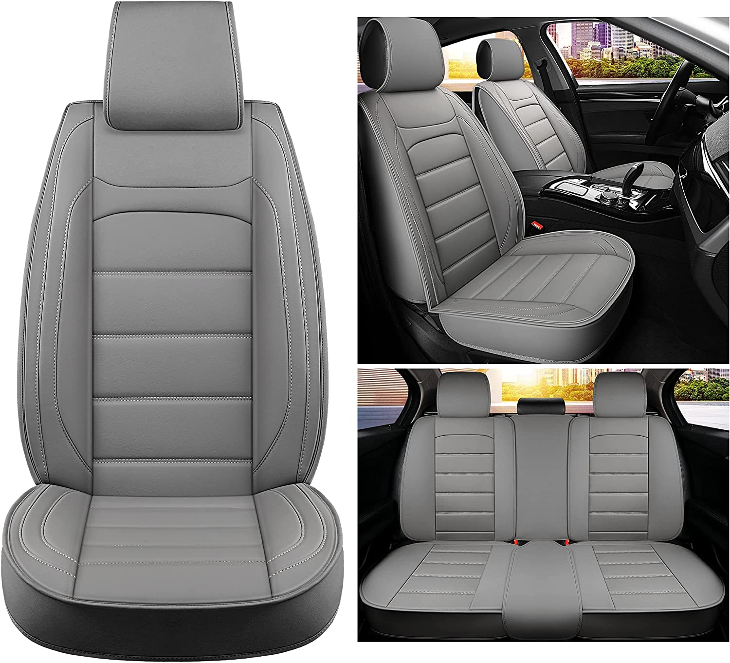 Sanwom Leather Free shipping on posting reviews Car Seat Covers Full Universal Set Store Ve Automotive