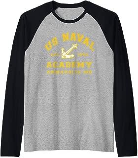 US Naval Academy  Raglan Baseball Tee